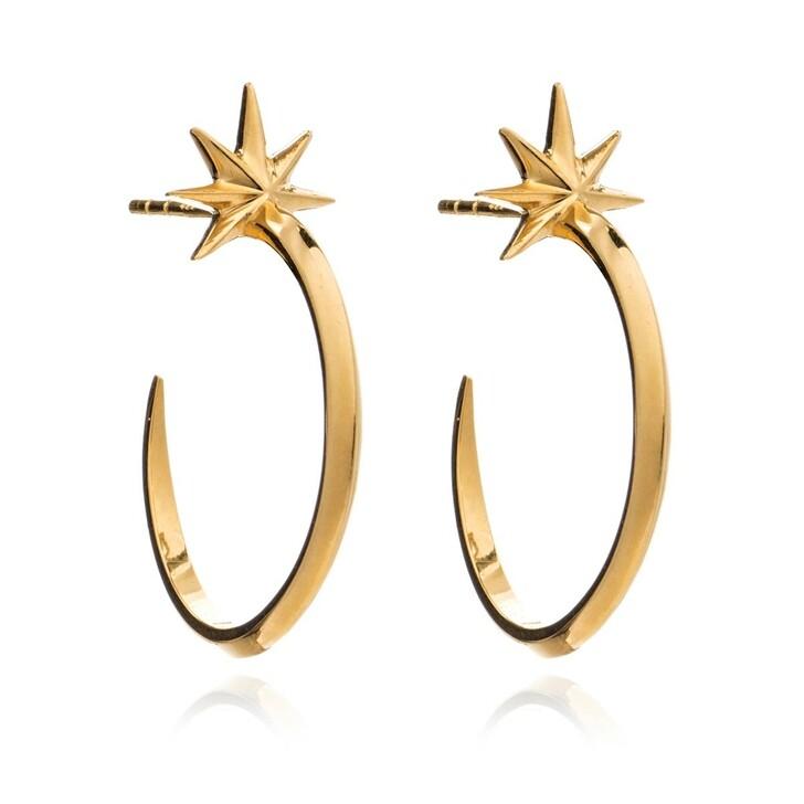 earrings, Rachel Jackson London, Shooting Star Medium Hoops Silver