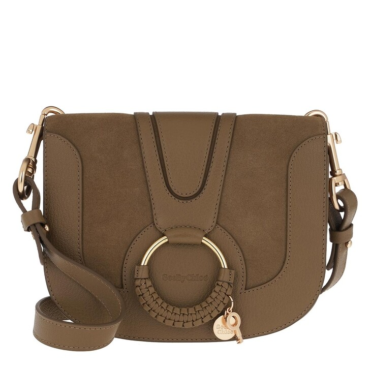 Handtasche, See By Chloé, Hana Crossbody Suede Smooth Dark Khaki