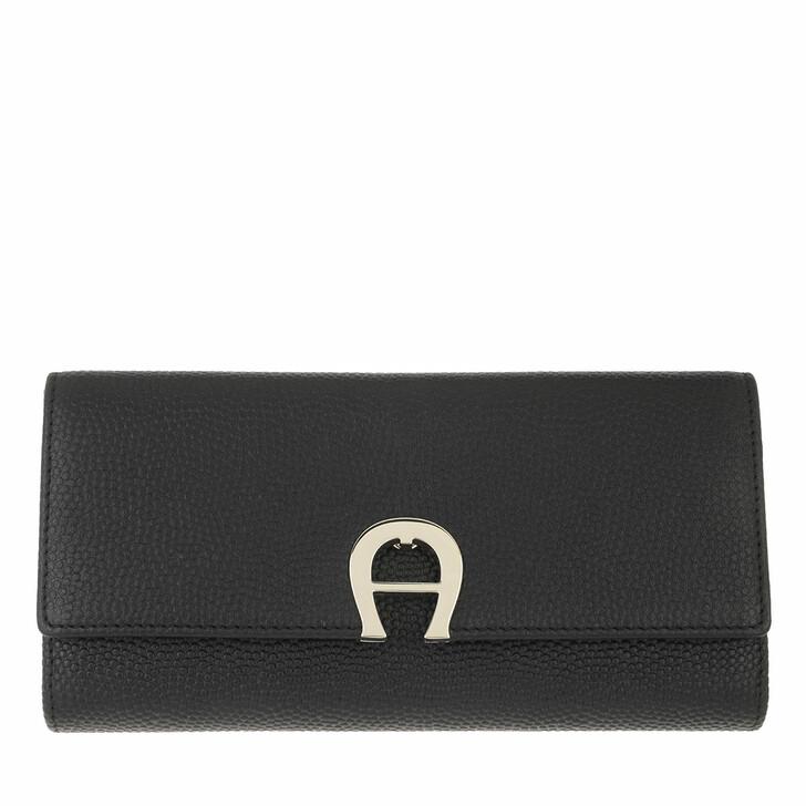 wallets, AIGNER, Genoveva Wallet Black