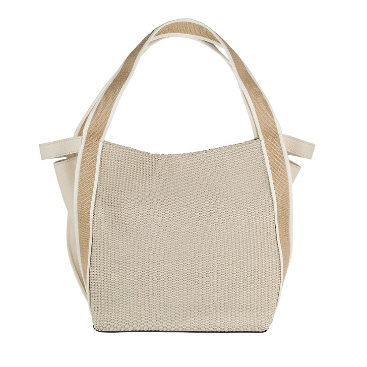 Handtasche, Gianni Chiarini, Two Handle Shopping Bag Leather Natural Marble