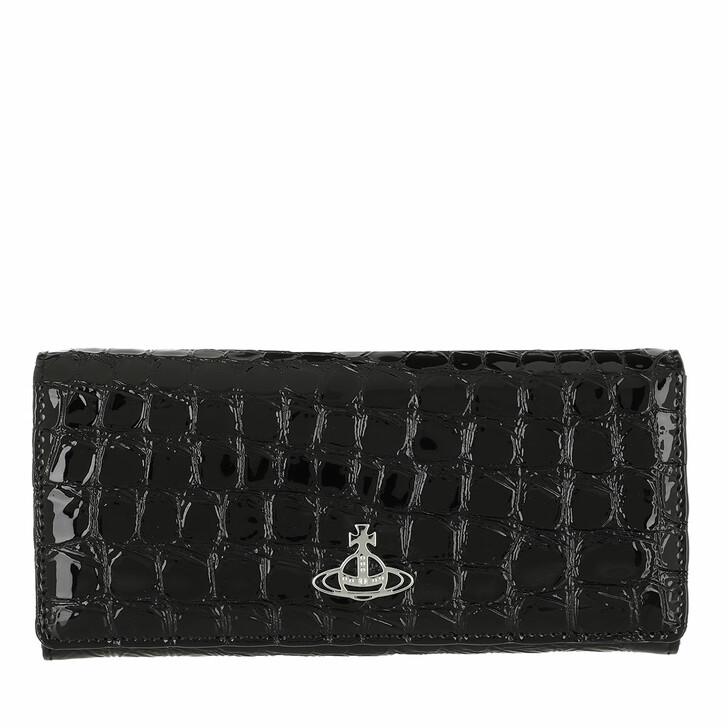 Geldbörse, Vivienne Westwood, Archive Orb Classic Credit Card Wallet Black/Silver