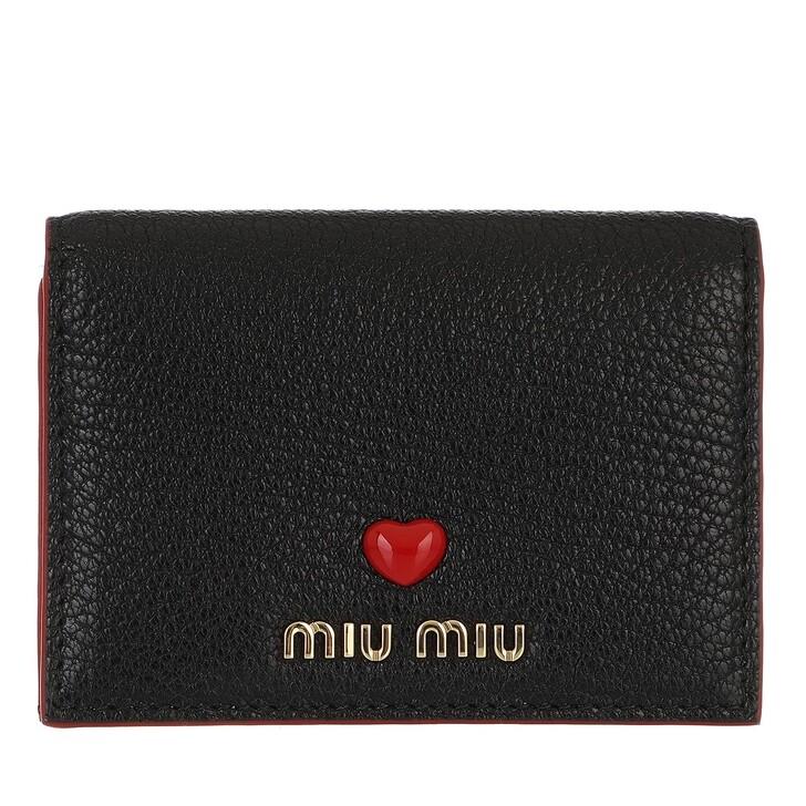 wallets, Miu Miu, Small Wallet Black