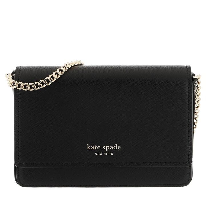 wallets, Kate Spade New York, Spencer Flap Chain Wallet   Black