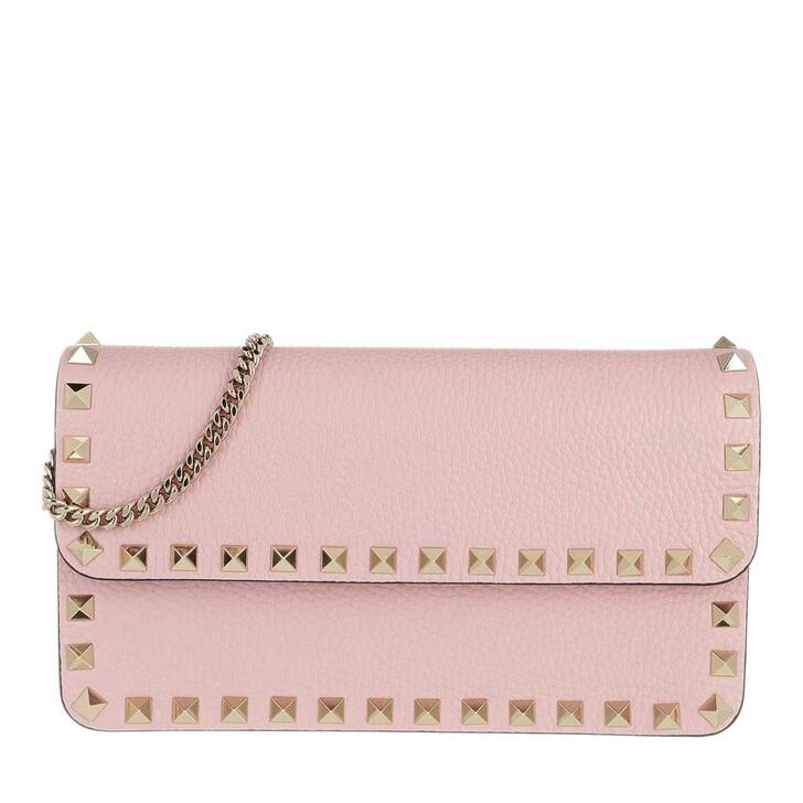 Handtasche, Valentino Garavani, Rockstud Pouch Leather Rouge Quartz