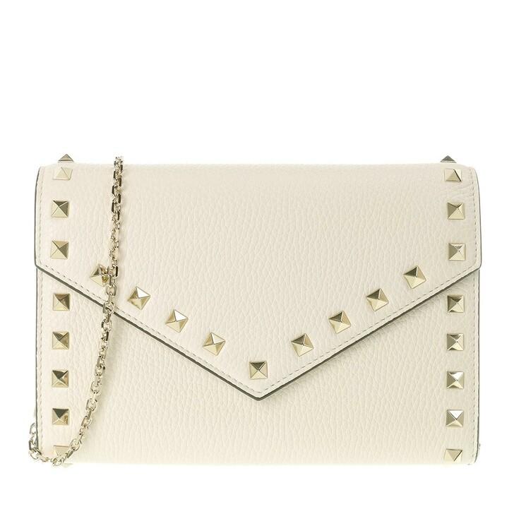 bags, Valentino Garavani, Rockstud Shoulder Bag Leather Light Ivory