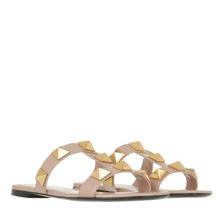 shoes, Valentino Garavani, Roman Stud Slide Sandals Rose