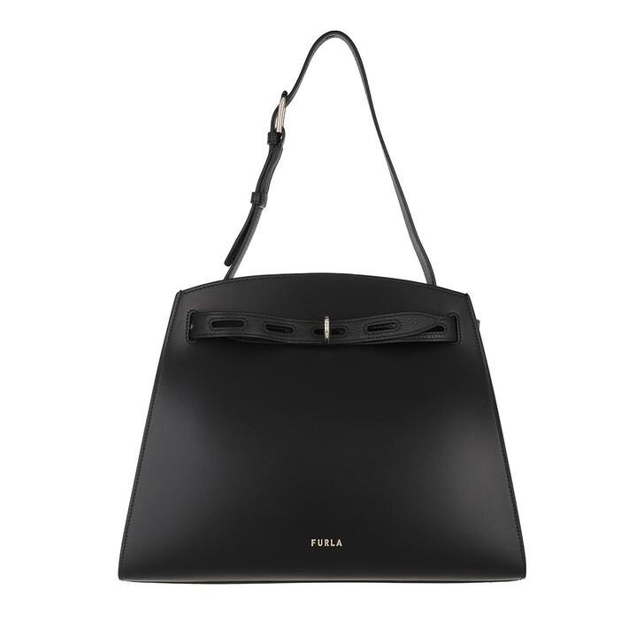 Handtasche, Furla, Furla Margherita M Shoulder Bag - Vitello New Calf Nero