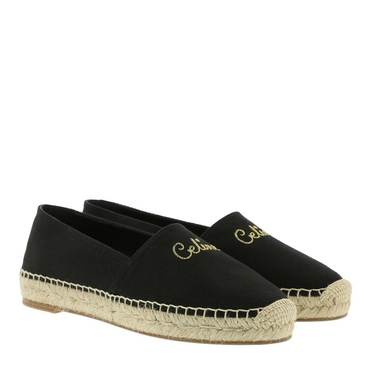 shoes, Celine, Taillat Espadrilles Canvas Black