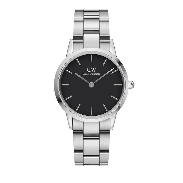 Uhr, Daniel Wellington, Iconic Link Black 32 mm Silver