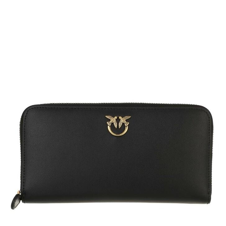 wallets, Pinko, Ryder Wallet Zip Around L Simp Nero Limousine