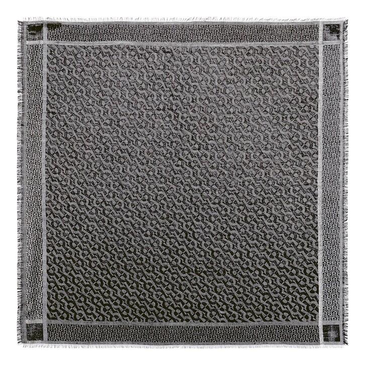 scarves, AIGNER, Logo Carré 100 x 100 cm Slate Grey