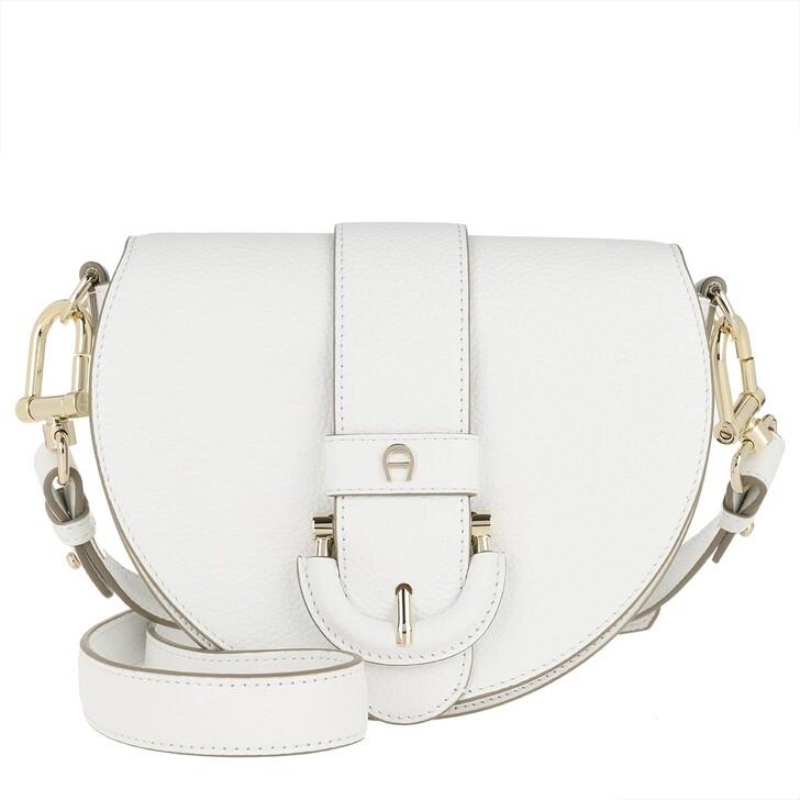 Handtasche, AIGNER, Crossbody Bag Kira Mini White