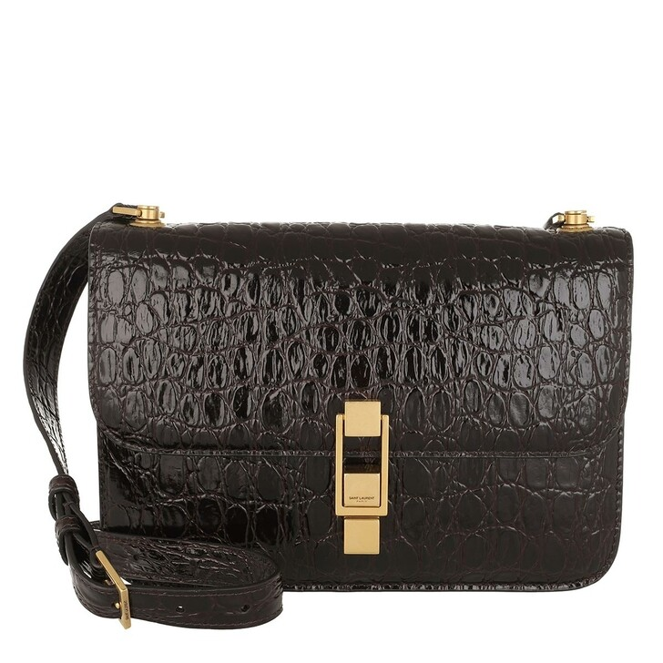 Handtasche, Saint Laurent, Carree Crossbody Bag Leather Black