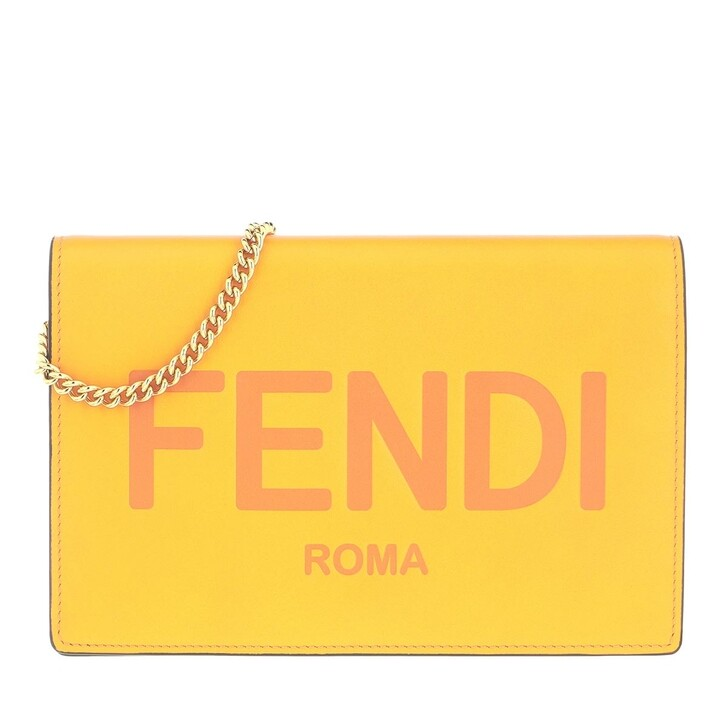 wallets, Fendi, Wallet On Chain Leather Clementine