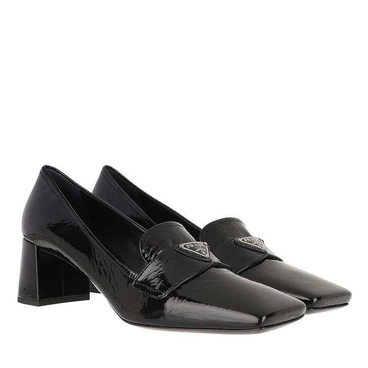 Schuh, Prada, Heeled Loafers Patent Leather Black
