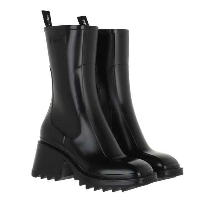 shoes, Chloé, Betty Rain Boots Black