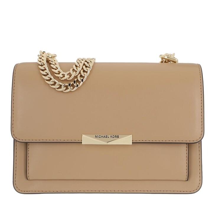 Handtasche, MICHAEL Michael Kors, Jade Large Gusset Shoulder Bag Leather Camel