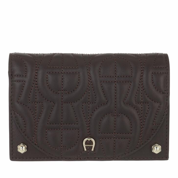wallets, AIGNER, Diadora Wallet Espresso Brown