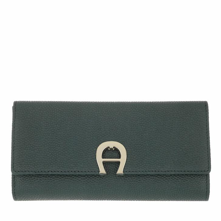 wallets, AIGNER, Genoveva Wallet Deep Green