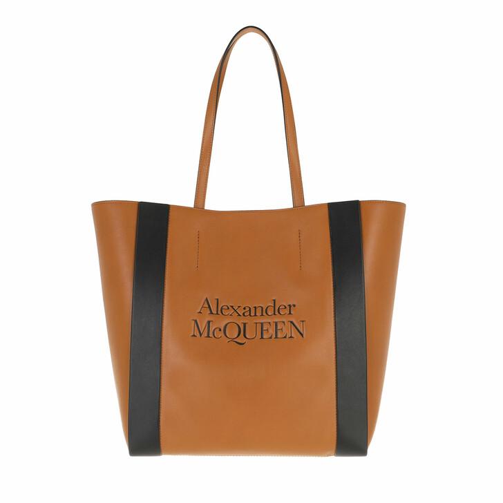 Handtasche, Alexander McQueen, Signature Shopping Bag Rose/Black