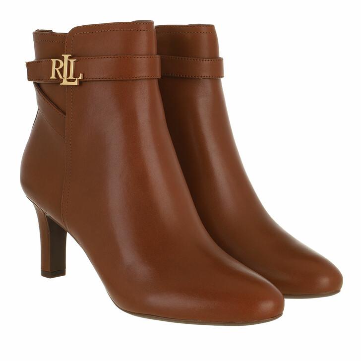 shoes, Lauren Ralph Lauren, Arianne Boots Dress Deep Saddle Tan