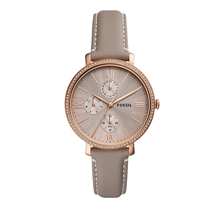 Uhr, Fossil, Jacqueline Multifunction Leather Watch Grey