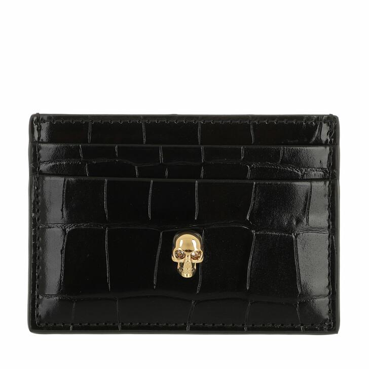 wallets, Alexander McQueen, Card Holder Black