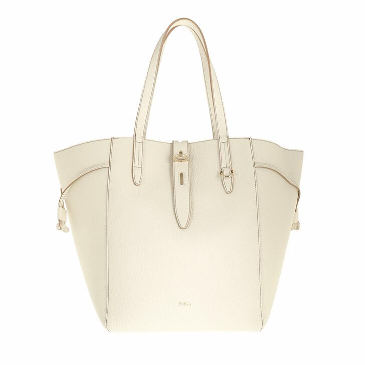 bags, Furla, Furla Net L Tote White Cotton+Corda C/C