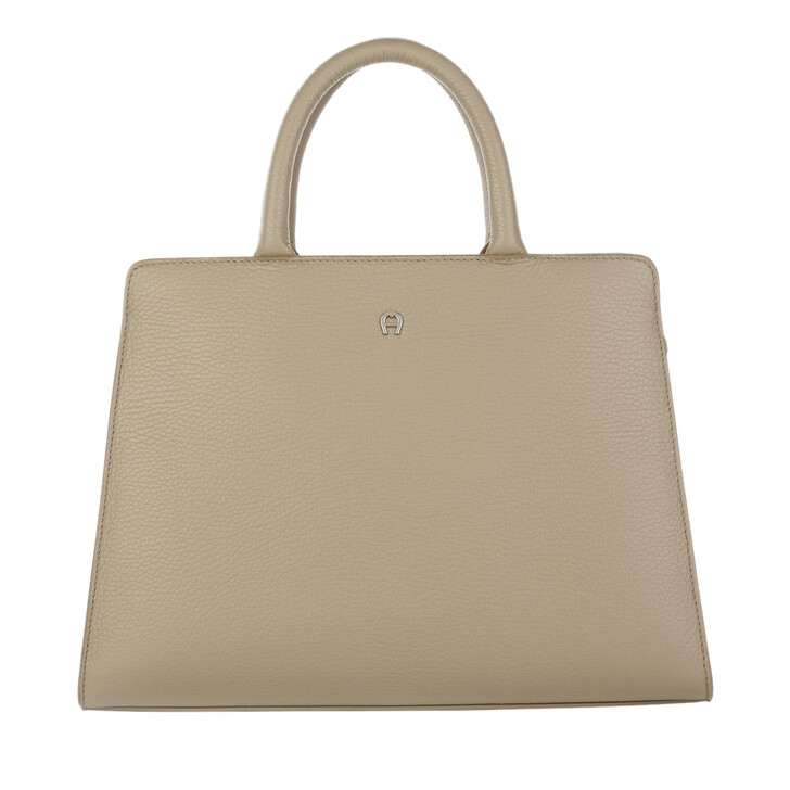Handtasche, AIGNER, Cybill Handle Bag Taupe