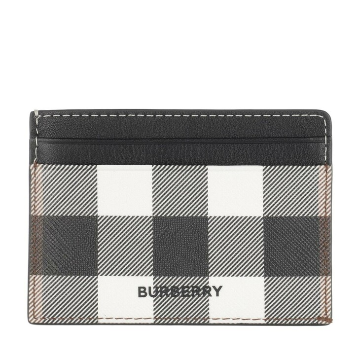 Geldbörse, Burberry, Kier Cardholder Checked Dark Birch Brown