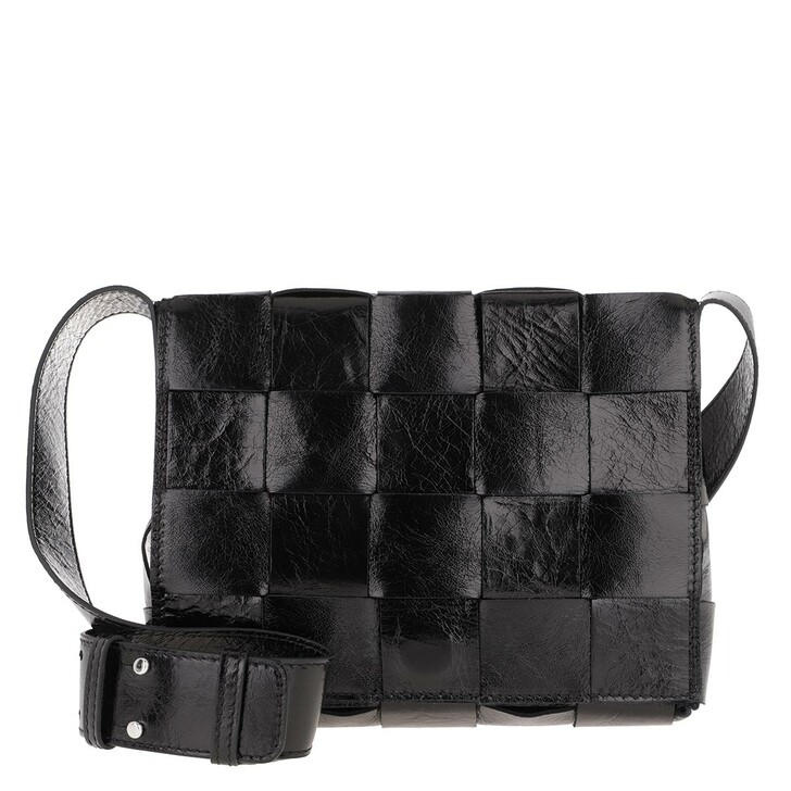 Handtasche, Abro, Chessboard Black/Nickel