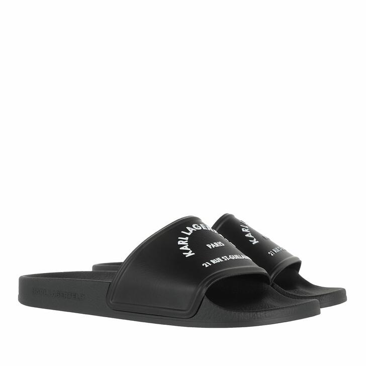 shoes, Karl Lagerfeld, KONDO II Maison Karl Slide Black Rubber
