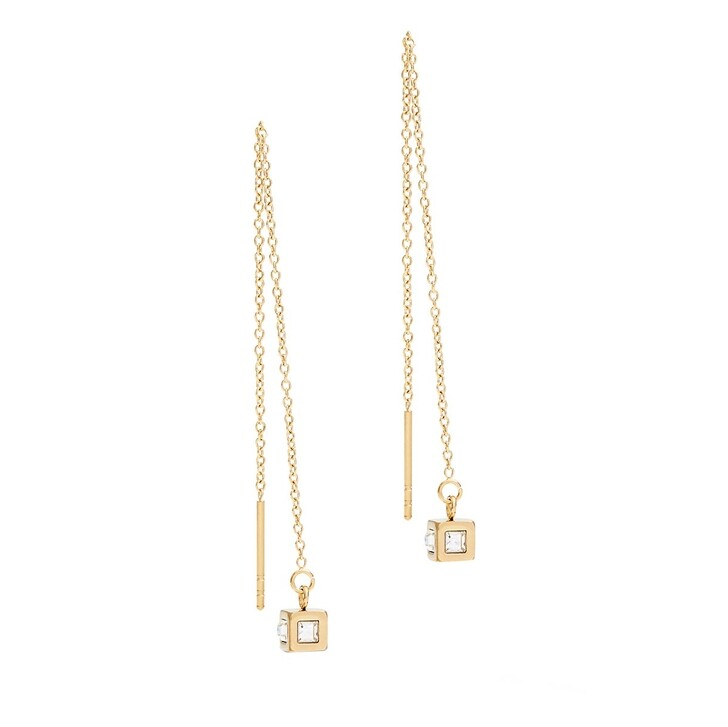earrings, COEUR DE LION, Pierced Earrings Crystal-Gold