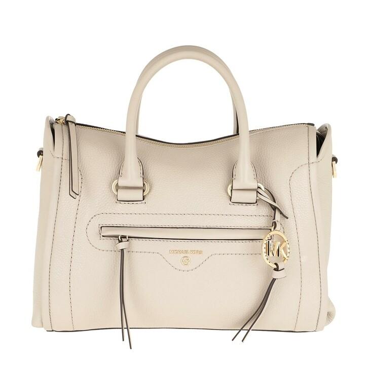 bags, MICHAEL Michael Kors, Carina MD Satchel Bag Light Sand