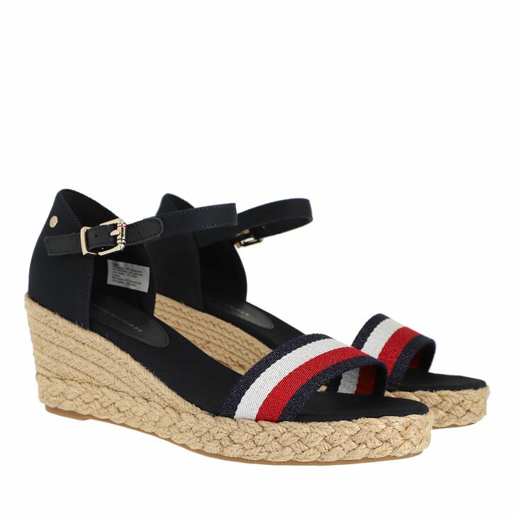 Schuh, Tommy Hilfiger, Shimmery Mid Wedge Sandals Desert Sky