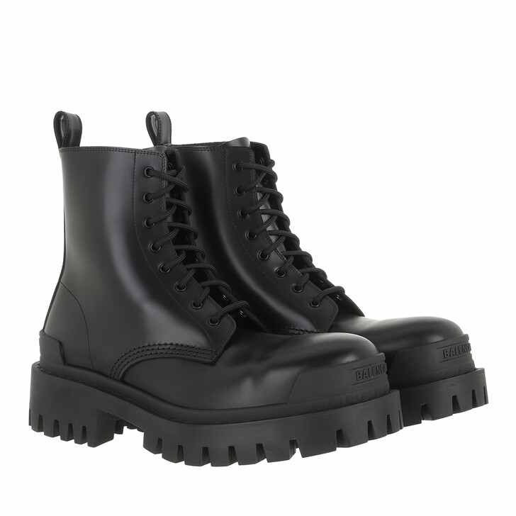Schuh, Balenciaga, Strike Bootie Black