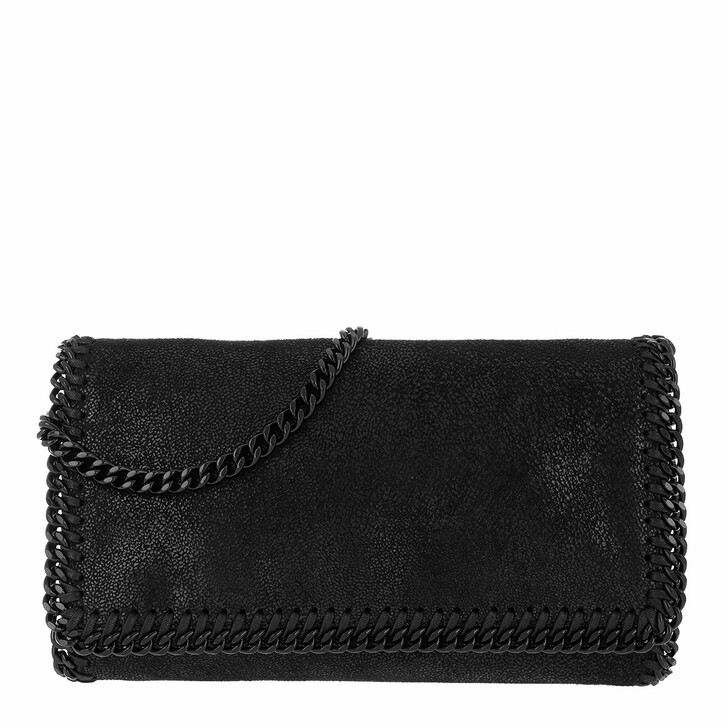 bags, Stella McCartney, Falabella Chain Clutch Black