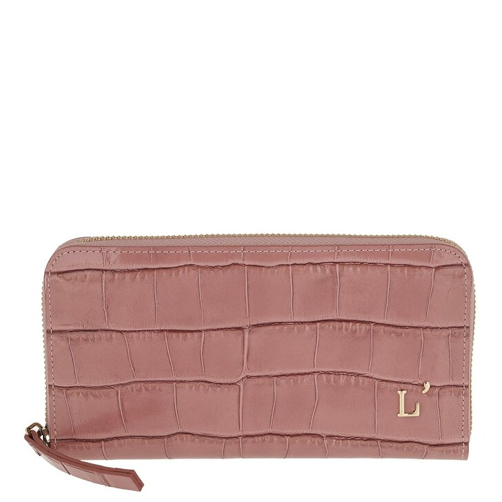 Geldbörse, L´Autre Chose, Printed Zip Around Wallet Ancient Pink