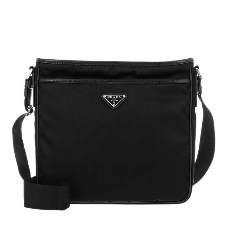 bags, Prada, Mens Nylon Crossbody Bag Black