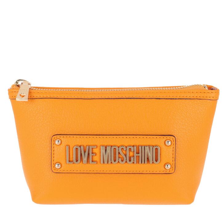 Necessaire, Love Moschino, Logo Neccessaire Giallo