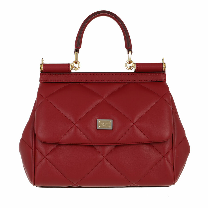 bags, Dolce&Gabbana, Sicily Small Handle Bag Rosso