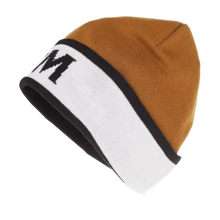 Schal, MCM, Intarsia Logo Wool Beanie Cognac