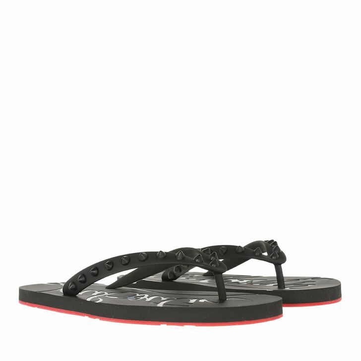shoes, Christian Louboutin, Loubi Flip-Flops Rubber