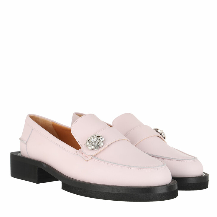 shoes, GANNI, Jewel Moccasin Calf Leather Pale Lilac