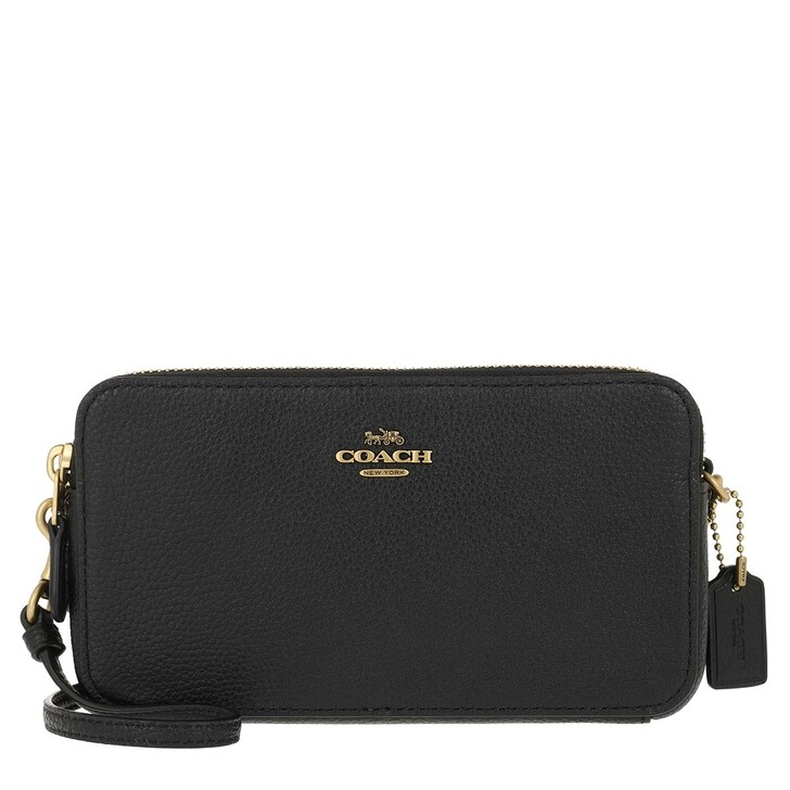 bags, Coach, Polished Pebble Leather Kira Crossbody Black