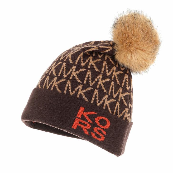 hats, MICHAEL Michael Kors, Bold Mk Dot Logo Pom Hat