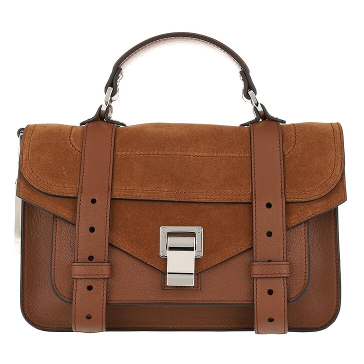 Handtasche, Proenza Schouler, PS1 Tiny Crossbody Bag Lamb Leather Chocolate