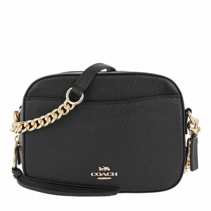 Handtasche, Coach, Polished Pebble Leather Camera Bag Li/Black