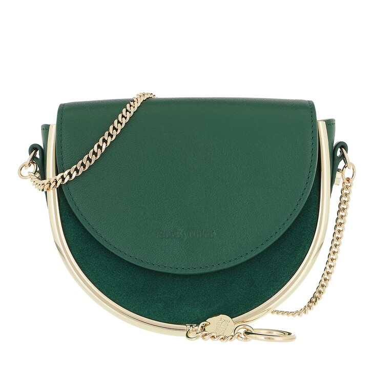 bags, See By Chloé, Mara Crossbody Bag Leather Woodsy Green