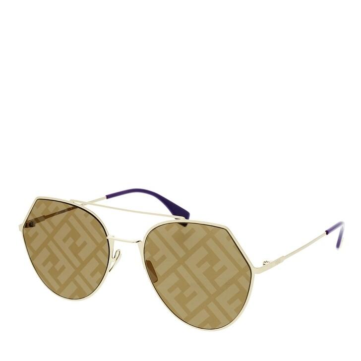 Sonnenbrille, Fendi, FF 0194/S Sunglasses Gold Violet Gold